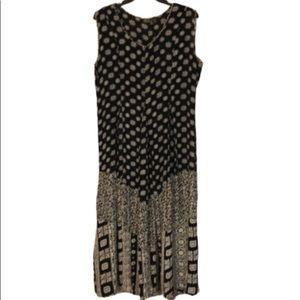 COPY - Olivia printed sleeveless A line maxi dress